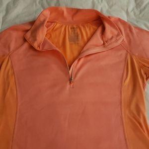 Long sleeve quarter zip performance top